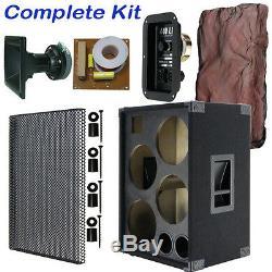 4x10 Avec Haut-parleur De Guitare Basse Tweeter, Meuble Vide, Tapis Noir Bg4x10htbc