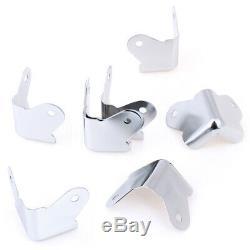 8pcs / Lot De Fer D'angle Protecteurs Pour Enceinte Guitare Amplificateur Pa Et +
