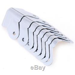 8pcs / Lot De Fer Protecteurs Angle Pour Enceinte Guitare Amplificateur Parnwus