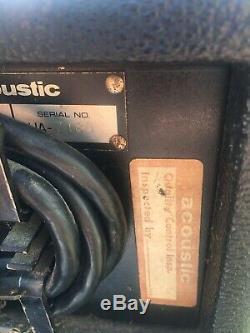 Acoustic Control Corp 370/301 Basse Pleine Pile Tête D'ampli Président Rig
