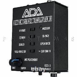 Ada Amplification Gcs-3 Guitar Cabinet Speaker Simulator DI Direct Box Gcs3 Nouveau