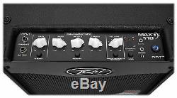 Ampli Combo Pour Guitare Basse Électrique Peavey Max 110 + 10 Haut-parleurs + Câble