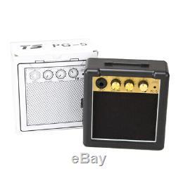 Ampli Guitare Portable Électrique Haut-parleurs Noirs Ampli 5w Gt