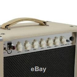 Amplificateur À Lampes Combo 15 Tubes 1x12 Eq Avec Haut-parleur Pour Guitare Électrique Beige
