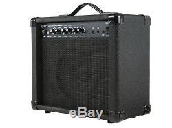 Amplificateur Combo 1x8 20 Watts Avec Haut-parleur Audio Stéréo Pour Guitare Électrique, Noir