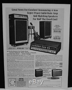 Amplificateur De Guitare Heathkit 1968 Et Haut-parleurs Assortis Imprimer Annonce