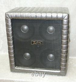 Armoire À Guitare Kustom Tr410 4x10 Avec Haut-parleurs Jensen En Éclat Argenté