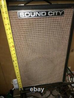 Cabine Haut-parleur Sound City Vintage Pa210 Lead 60 Watts