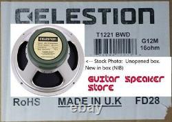 Celestion G12m 25w Greenback 16 Ohm Uk Haut-parleur De Guitare De 12 Pouces