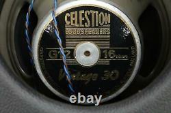Céléstion Verticale 2x12 À Deux Roues G12 Guitare Ouverte Back Speaker Cabinet Cabine #44333