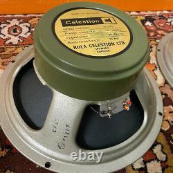 Couple Assorti 2x Vintage 1973 Celestion G12h 30w T1217 Greenback 12 Haut-parleurs