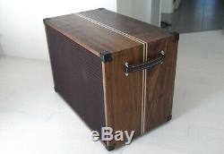 Coutume Noyer 1x15 Guitare Basse Cab Avec 1962 Jbl D-140f Exquis Haut-parleur