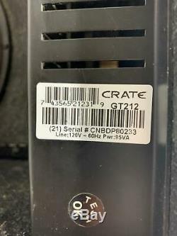 Crate Gt212 120w Rms 2x 12 Haut-parleur 3 Canaux Combo Solid State Amplificateur De Guitare