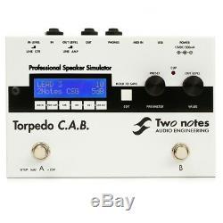 Deux Notes D'ingénierie Audio Torpedo C. A. B. Pédale D'ampli Guitare Simulateur D'enceintes