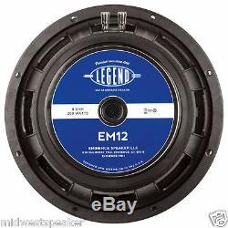 Eminence Legend Em12 12 Haut-parleur Guitare 8 Ohms Livraison Gratuite! Evm-12l Remplacement
