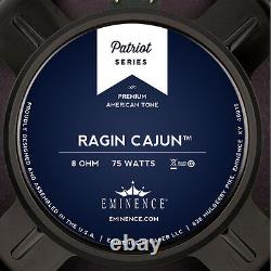 Eminence Patriot Ragin Cajun 10 Pouces Lead Rhythm Guitar Speaker 8 Ohm 75 W Rms