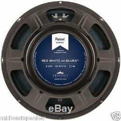 Eminence Red White & Blues 12 Guitar Speaker 8 Ohms Nouveau Livraison Gratuite