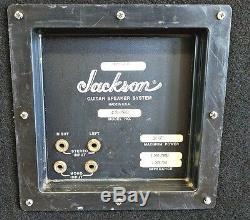 Enceinte Guitare 4x12 Jackson J421sl Pour Guitare Stéréo Avec Dessous De Verre Nice