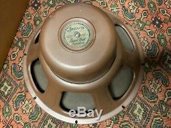 Enceinte Vintage Jensen St-600 Curved Cone 15 Pour Ampli À Lampes