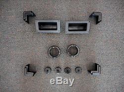 Ensemble De 8 Coins 4 Pieds 2 Poignées 2 Ports Boîtier D'ampli Guitare Pour Haut-parleur Dj