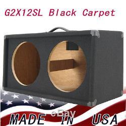Extension De Haut-parleur Pour Guitare 2x12, Meuble Vide, Finition De Moquette Noire G212sl-bcp