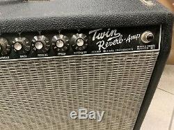 Fender 65 Tube Double Reverb Avec 2x 12 Jensen C12k Haut-parleurs Pedal Vintage D'occasion