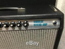 Fender 68 Vibrolux-reverb 35 Watts Ampli Guitare Avec Haut-parleur De Mise À Niveau