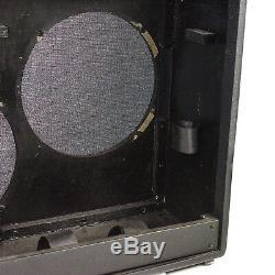 Fender Guitar Amp Cabinet Vide (25.5x10x21) Pouces Pour 2x 12 Haut-parleurs