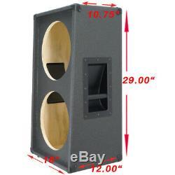 Guitare Inclinée Verticale 2x12 Haut-parleur Vide Cabinet Charbon De Bois Noir Tolex G2x12vsl