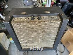 Harmony H400a Vintage 1960s Tube Guitar Amplificateur W Jensen Haut-parleur As/is