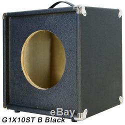 Haut-parleur 1x10 Guitare Desserte Vide Bronco Texture Noire Tolex G1x10stbb
