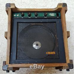 Haut-parleur Ampli À Amplificateur De Guitare À État Solide Modèle Cr-1 15w Vintage Des Années 70