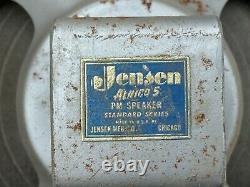 Haut-parleur Vintage Années 1950 Jensen Alnico 5 Standard Series 8 Pour Guitar Amp