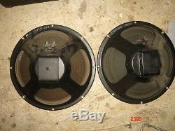 Haut-parleurs Guitare Vintage Haut-parleur Amplificateur Ampli Paire Fixé