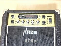 Haze 20w Rechargeable Amplificateur De Guitare Withbluetooth Haut-parleurs, MIC Entrées Hsgr-20