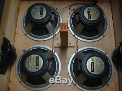 Marshall 1960b 1979 Original Celestion G12h-30 T1281 55hz Haut-parleurs 444 Cônes