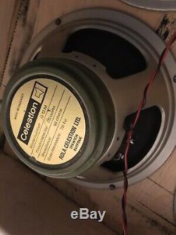 Marshall 1971 4x12 Avec 25 Watt Greenback Haut-parleurs Celestion, Natté