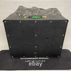 Marshall 1974 Jmp Modèle #2045 2x12 Checkerboard Speaker Cabinet Black Tolex