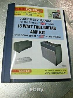 Marshall Type British 18 Watt Tube Guitar Amp Diy Avec Celestion Speaker Nouveau