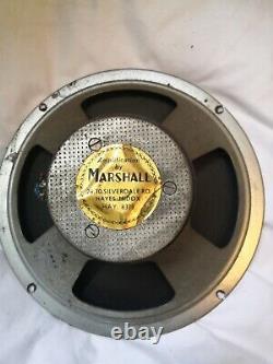 Marshall Vintage 10 Haut-parleur Chauffeur 16 Ohm Daté Vers 1965-1967. Je Travaille. N°7442