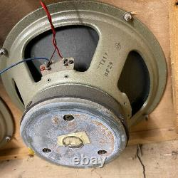 Matched Quad 4x Vintage 1973 Celestion G12h T1217 12 Speaker Drivers Original