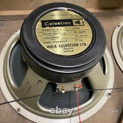 Matched Quad 4x Vintage 1977 Celestion G12h T1217 12 Speaker Drivers Original