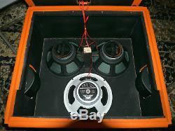 Onu-loaded 3x12 Sonsetbeach Ssb312 Président D'orange Cab Utilisez Vos Haut-parleurs! Nouveau