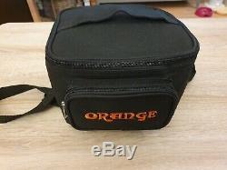 Orange Micro Noir 20 Watt Tête D'ampli Avec Sac, Câble Haut-parleur Et Tube Supplémentaire