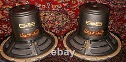 Pair University Haut-parleur Modèle 6201 12 8 Ohm 25w Vintage Haut-parleurs Coaxiaux