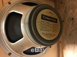 Paire 2x Vintage 1968 Celestion G12m T1221 12 25w Greenback Haut-parleurs Pilotes 003