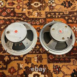 Paire 2x Vintage 1971 1972 Celestion T1927 Marshall 10 Speaker Drivers Original