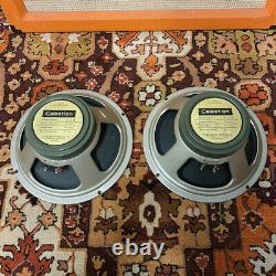Paire Assortie 2x Vintage 1969 Celestion G12m 25w T1511 Greenback 12 Haut-parleurs