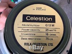 Paire De 1971 Celestion G12m Haut-parleurs Pulsonic 102 003 Cônes / Pré-rola / Trans