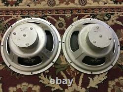 Paire De Haut-parleurs Vintage Cletron 12 Haut-parleurs 4 Ohm Guitar Amplificateur Ribbed Whizzer